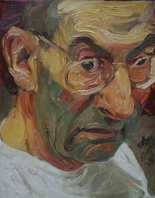 Johannes Grützke: *Selbst 31.1.2003*, Öl/Leinwand, 30 x 24 cm