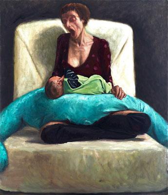 Bettina Moras: *Maternità*, 2016, 140 x 120 cm