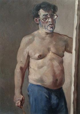 Pavel Feinstein *N 1754* (Dickes Selbstporträt), 2013, Öl/Leinwand, 110 x 80 cm