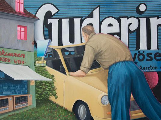 André Schulze: *Guderin*, 2020, Öl/Leinwand, 60 x 80 cm