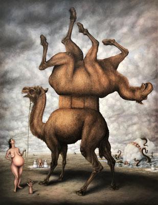 Le sens du poil, 2012, Öl/Leinwand, 146 x 114 cm