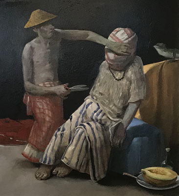 Pavel Feinstein: *N 2246*, 2017, Öl/Leinwand, 150 x 130 cm