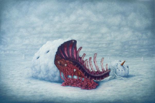 Bruno Pontiroli:  *Les beaux restes*, 2013, Öl/Leinwand, 97 x 146 cm