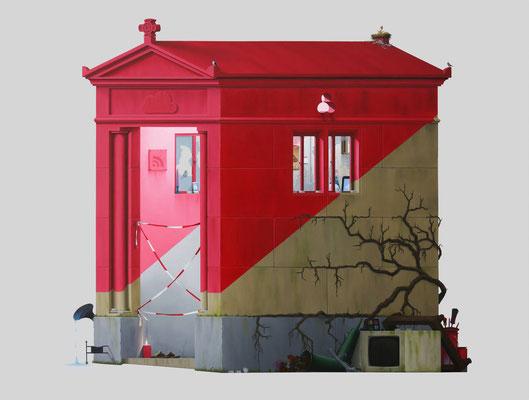 André Schulze: *Grabkapelle*, 2016, Öl/Leinwand, 130 x 150 cm
