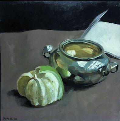Pavel Feinstein: *N 2409*, 2018, Tempera/Hartfaser, 30 x 30 cm