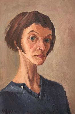 Bettina Moras: *Selbst*, 2014, Öl/Leinwand, 60 x 40 cm