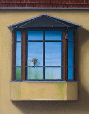 André Schulze: *Erker*, 2016, Öl/Leinwand, 30 x 24 cm
