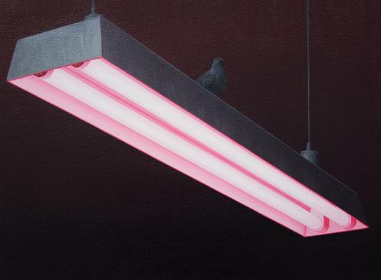 André Schulze: *Neon*, 2018, Öl/Leinwand, 30 x 40 cm