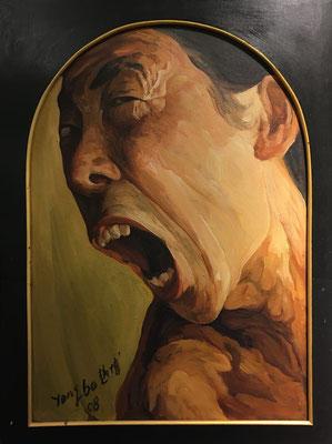 "Yongbo Zhao: ""Selbstporträt"", 2008, Öl/Leinwand, 80 x 60 cm"