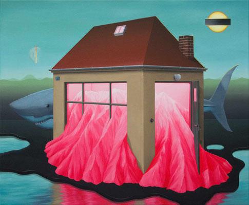 André Schulze: *Labor*, 2021, Öl/Leinwand, 50 x 60 cm