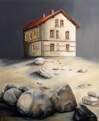 Michaela Classen: *Schöne Heimat I*, 2016, Öl/Leinwand, 120 x 100 cm