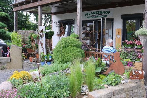 Ein Platz zum Ausruhen am Gartenteich