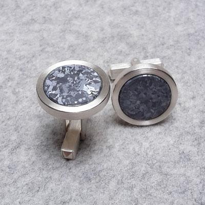 Silber Manschettenknöpfe mit Silicium, 330 Euro