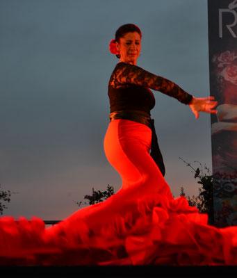 La Morena, en plein flamenco