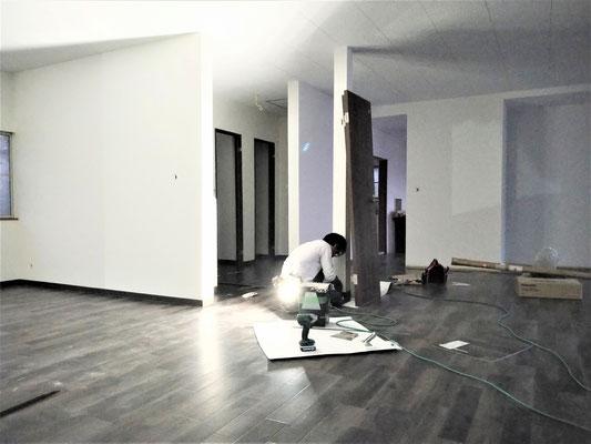 イクメンリフォームによる岐阜県大垣市の激安クッションフロア工事