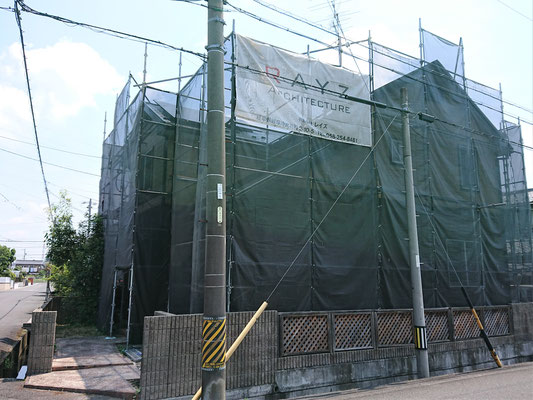 岐阜県大垣市の住宅の外壁屋根の激安塗装工事
