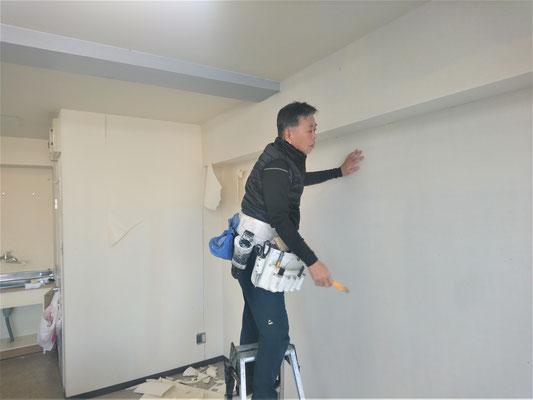 岐阜県岐阜市 新規開業の接骨院の激安クロス張替え