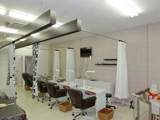 岐阜県各務原市 「ネイルサロン」の新店舗の内装工事