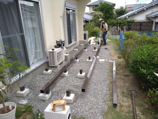 愛知県名古屋市のウッドデッキ工事