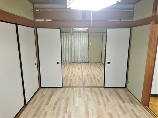 岐阜県大垣市 空き家の和室を洋間へリフォーム