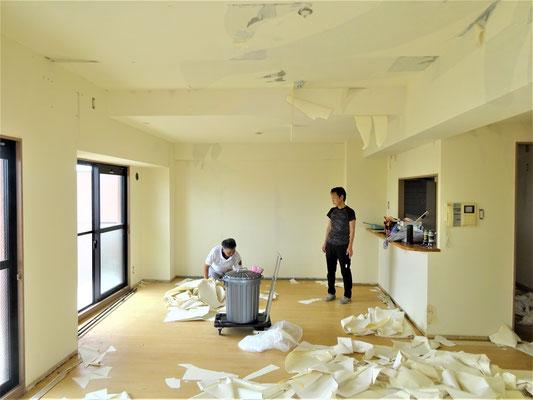 イクメンリフォームによる愛知県一宮市のマンションの激安クロス張替え