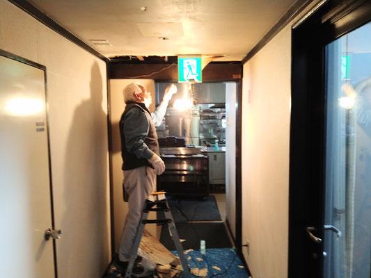 愛知県小牧市の合掌レストラン大蔵様の改修工事