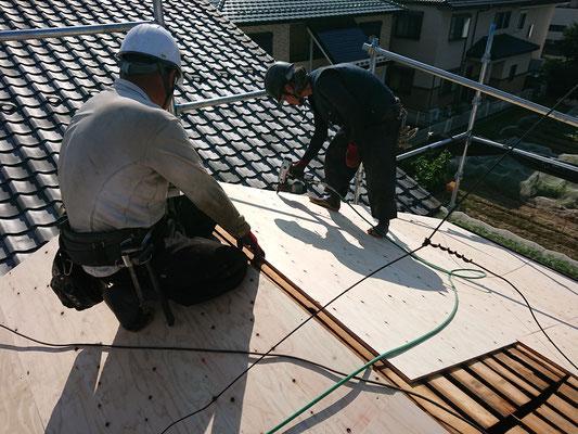 岐阜県岐阜市の住宅の屋根の吹き替え工事