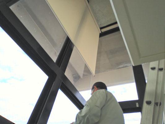イクメンリフォームによるロールカーテンの施工