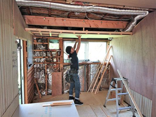 イクメンリフォームによる岐阜県瑞穂市の増改築リフォーム工事中