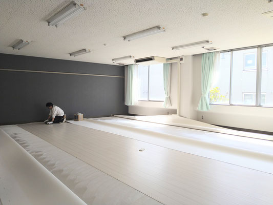 イクメンリフォームによる名古屋大学大幸キャンパスのリフォーム工事中