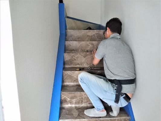 愛知県名古屋市 階段の床張替え
