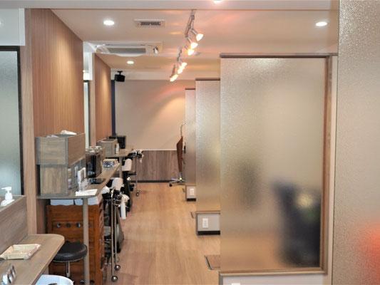 イクメンリフォームの岐阜の美容室の内装工事