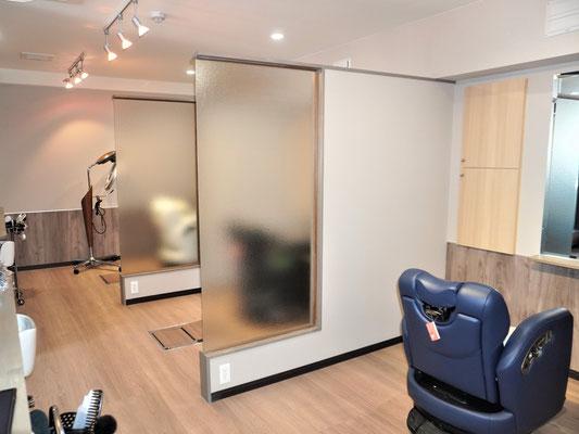 イクメンリフォームの岐阜の美容室の改装工事