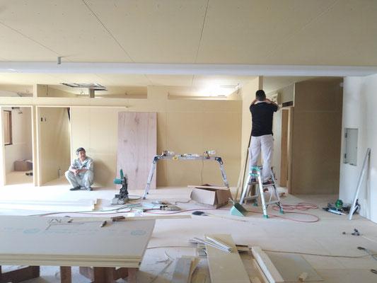 岐阜の放課後等デイサービスの新規事業所の内装工事