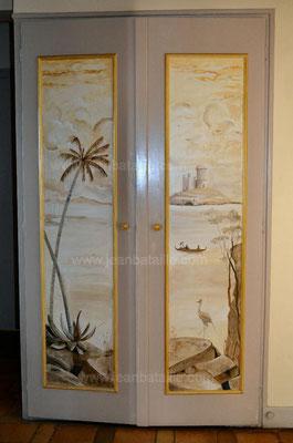 Décor en acrylique de portes de placard