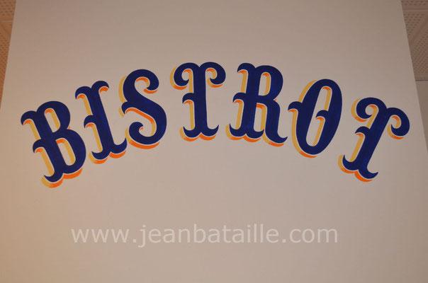 """Lettres peintes """" Renaissance à crochets"""" avec épaisseur à 2 tons"""