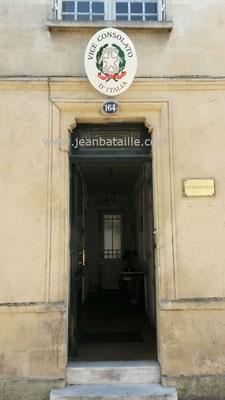 Blason du consulat d'Italie APRES rénovation
