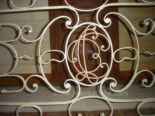 Balcon d'intérieur : détail du milieu