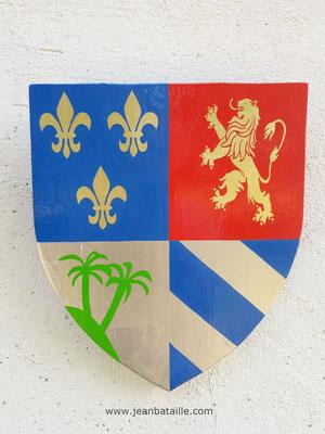 Blason pour un Cubain Montréalais avec or et paladium