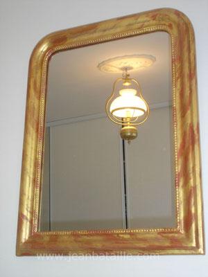 Rénovation cadre argile et or