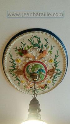 Rosace décorée d'après modèle