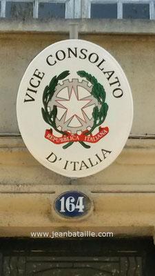 Détail du Blason du consulat d'Italie APRES rénovation