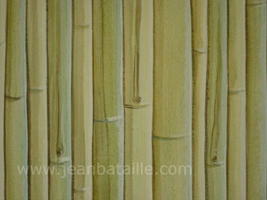 Sur porte de placard : imitation bambou