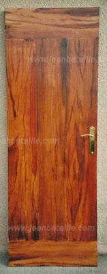 porte isoplane en faux bois fantaisie