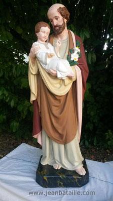 APRES  rénovation St Joseph et l'enfant Jésus 1,10m de hauteur