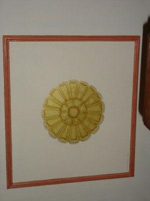 Peinture or acrylique détail
