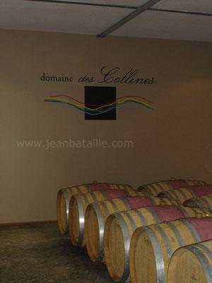 Reproduction en peinture labellisée du sigle du vignoble Domaine des Collines