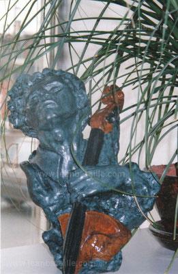 Statue de plâtre hydrostone en imitation bronze