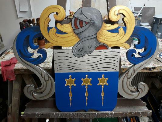 Blason pour une famille de La Rochelle