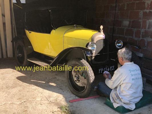 Immatriculation voiture 1920 en lettre peinte